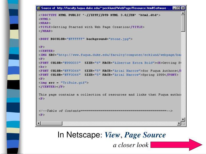 In Netscape