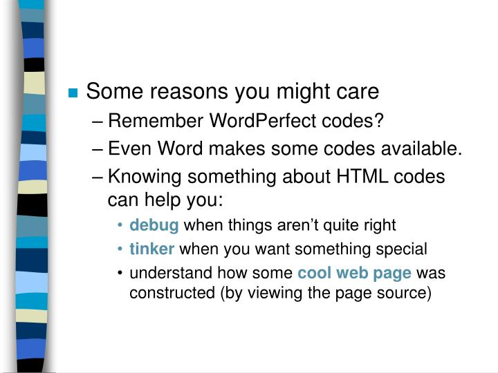 Some reasons you might care
