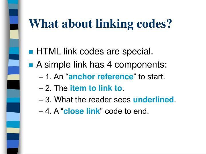 What about linking codes?