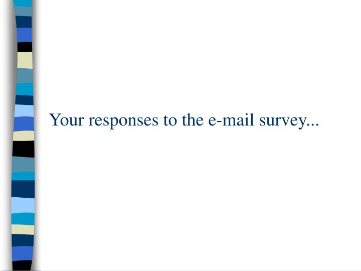 Your responses to the e-mail survey...