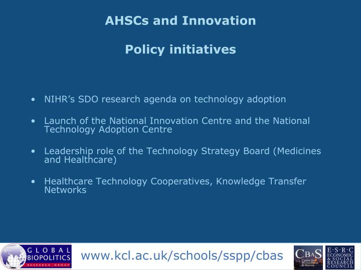 AHSCs and Innovation