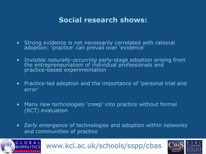 Social research shows: