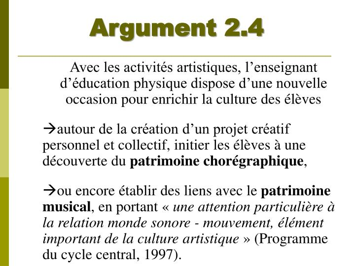 Argument 2.4