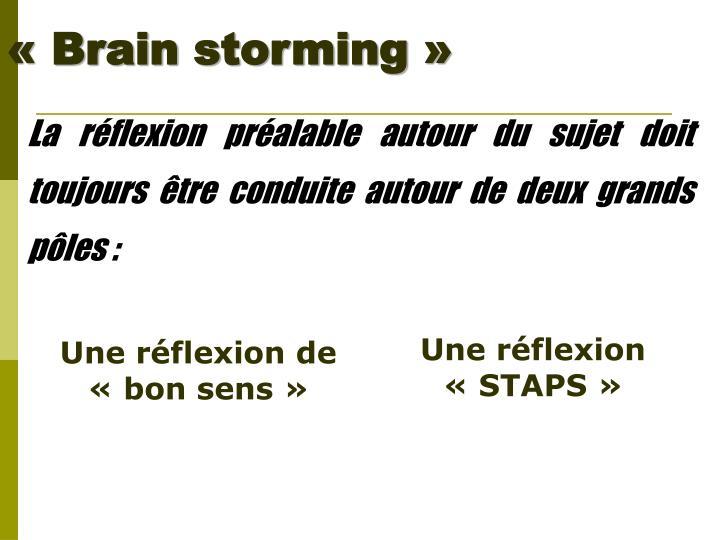 «Brain storming»