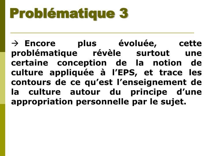 Problématique 3