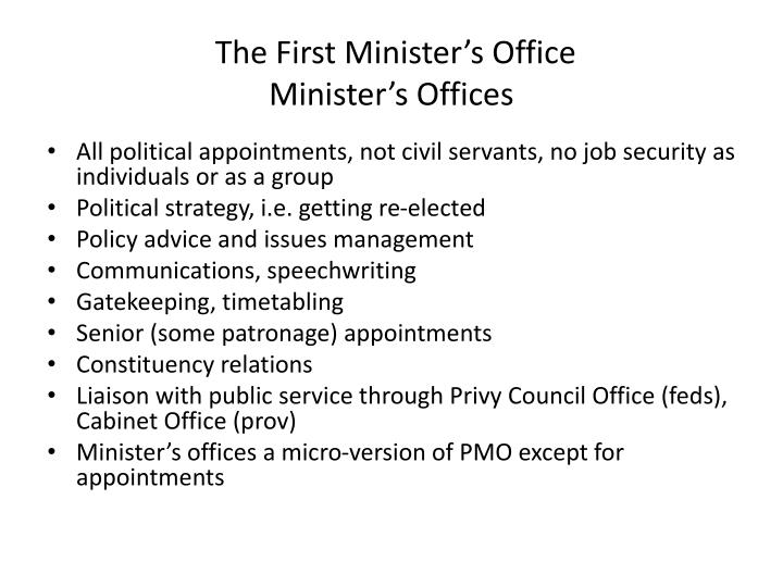 The First Minister's Office