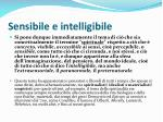sensibile e intelligibile