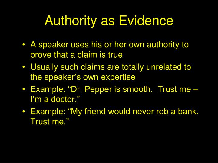 Authority as Evidence
