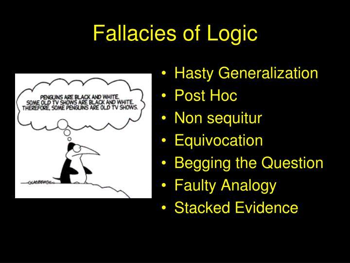 Fallacies of Logic