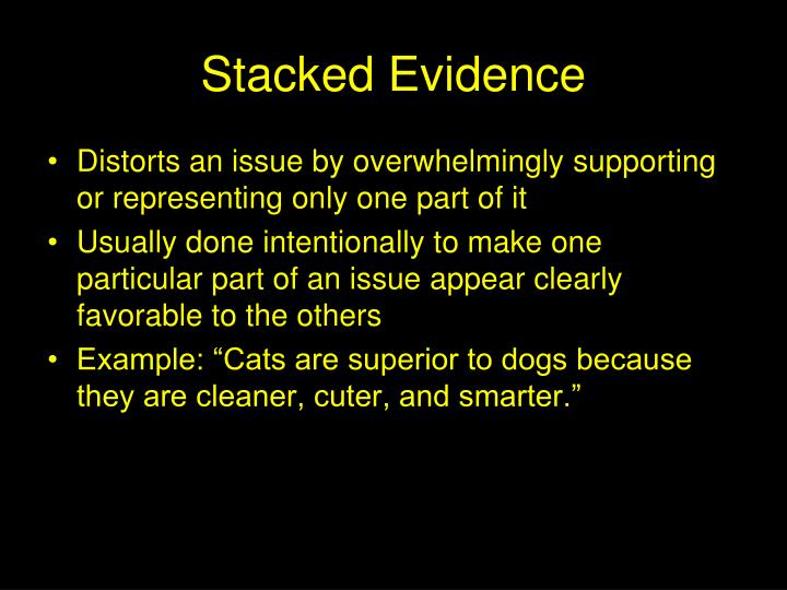 Stacked Evidence