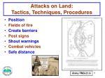 attacks on land tactics techniques procedures