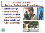 attacks on land tactics techniques procedures1