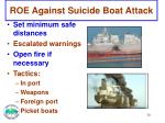 roe against suicide boat attack