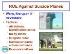roe against suicide planes