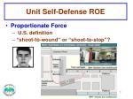 unit self defense roe1