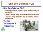 unit self defense roe2