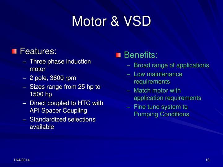 Motor & VSD