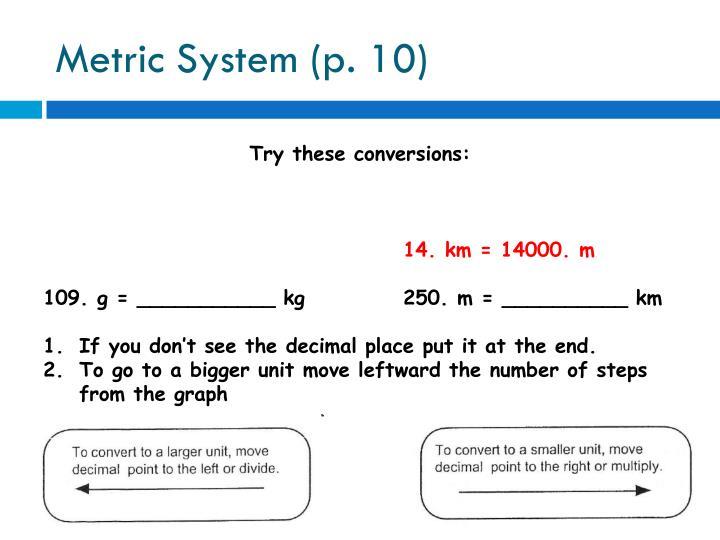 Metric System (p. 10)