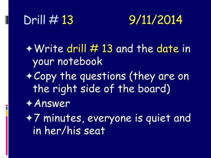 Drill #