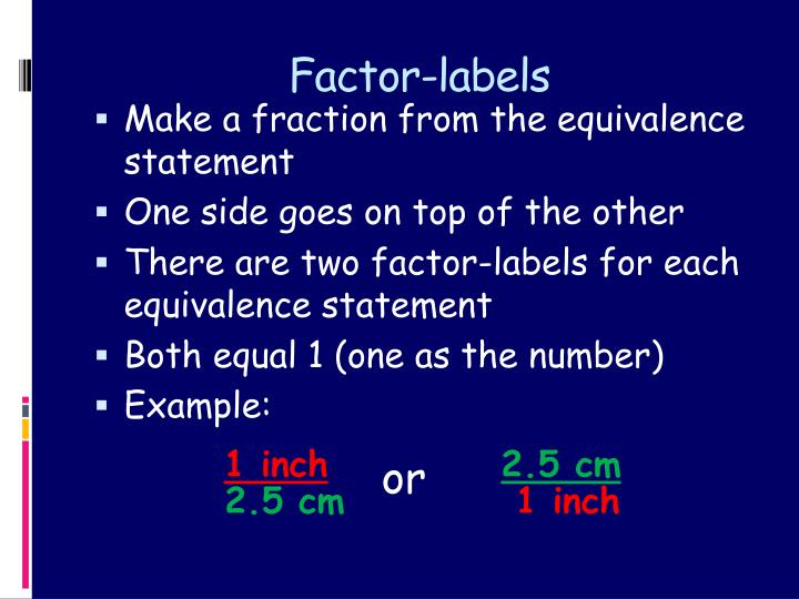 Factor-labels