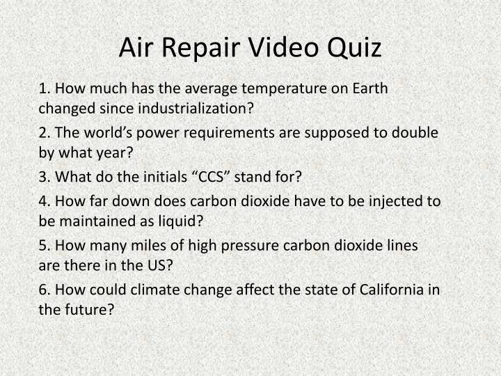 Air Repair Video