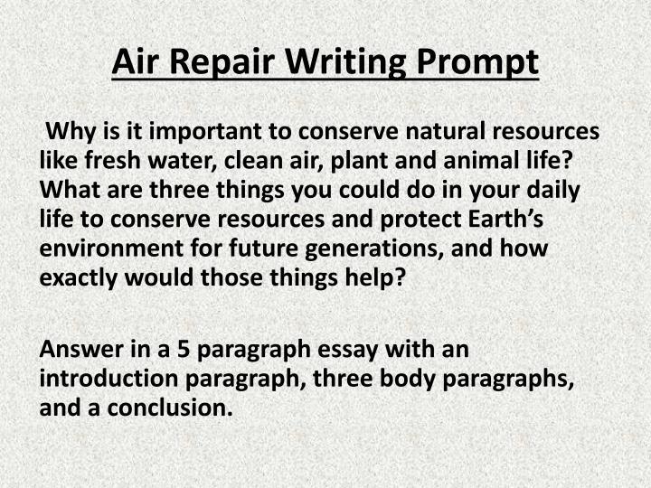 Air Repair Writing