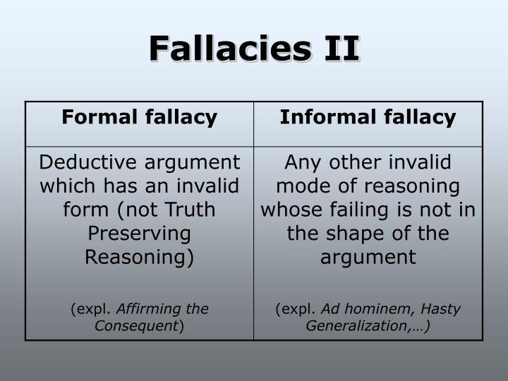 Fallacies II