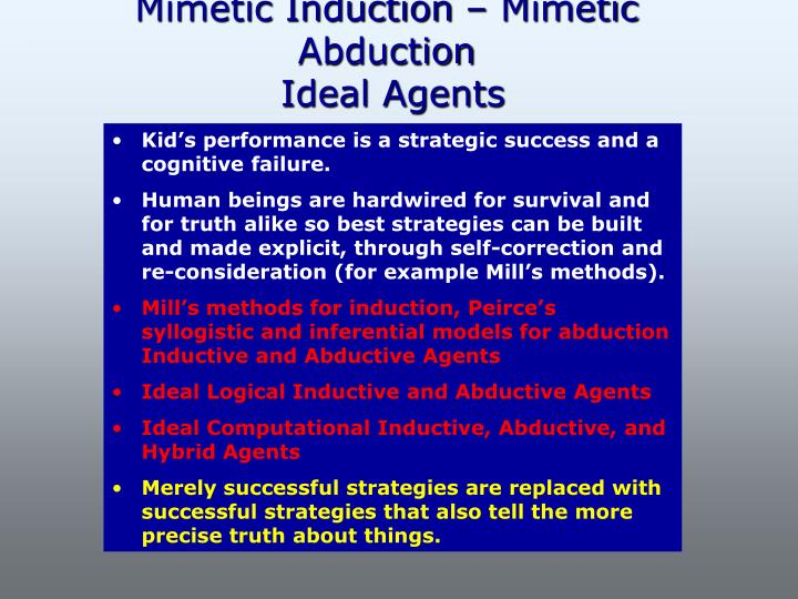Mimetic Induction – Mimetic Abduction