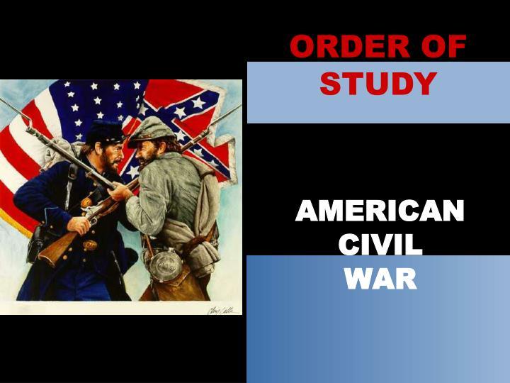 ORDER OF STUDY
