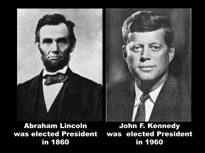 Abraham Lincoln                          was elected President   in 1860