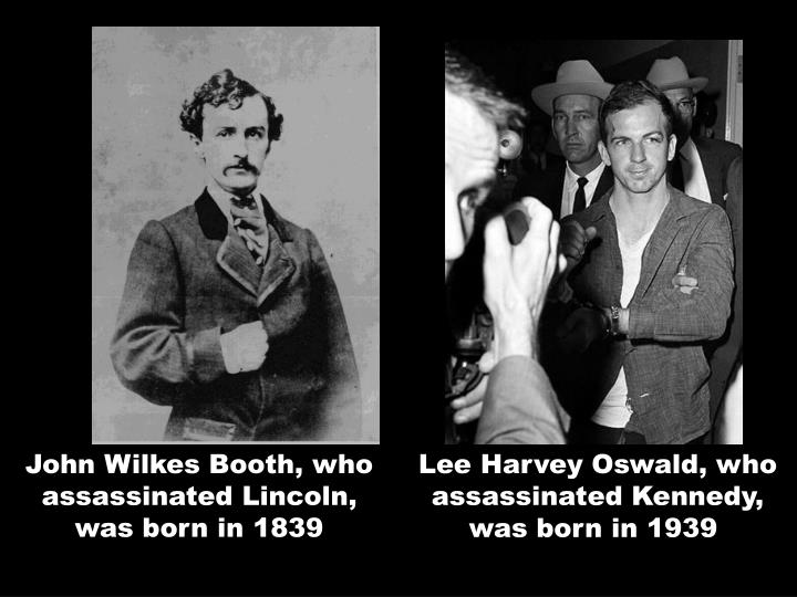 John Wilkes Booth, who assassinated Lincoln, was born in 1839