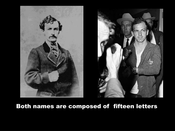 Both names are composed of fifteen letters
