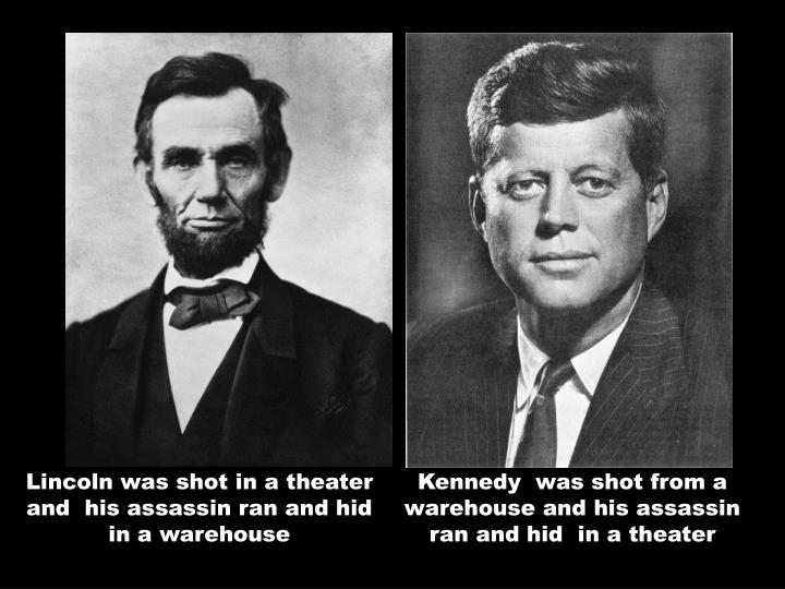 Lincoln was shot in a theater and  his assassin ran and hid in a warehouse