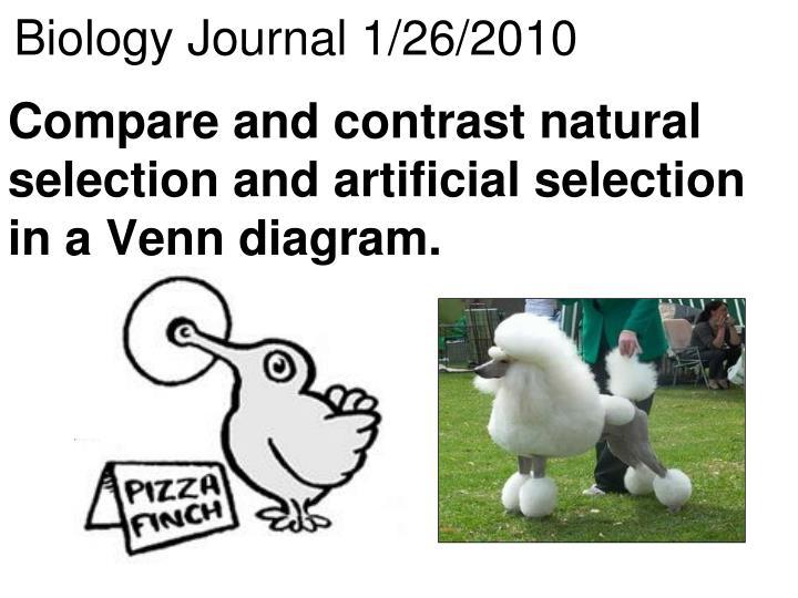 Biology Journal 1/26/2010