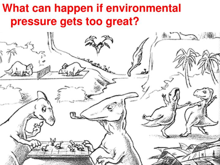 What can happen if environmental pressure gets too great?