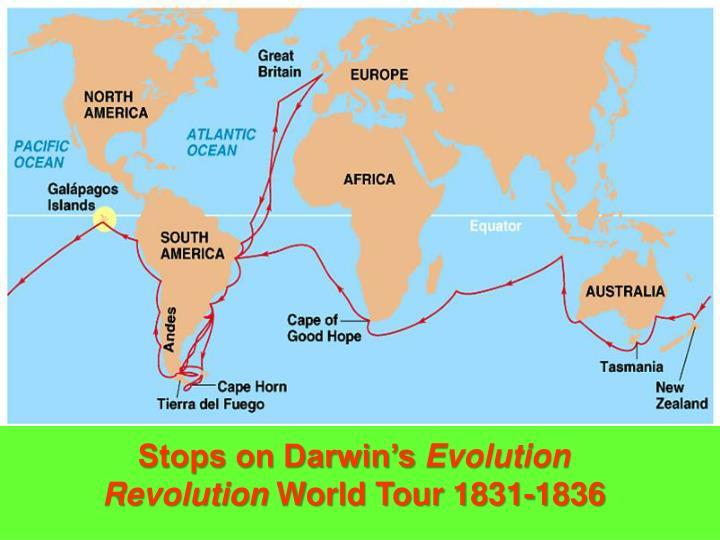 Stops on Darwin's