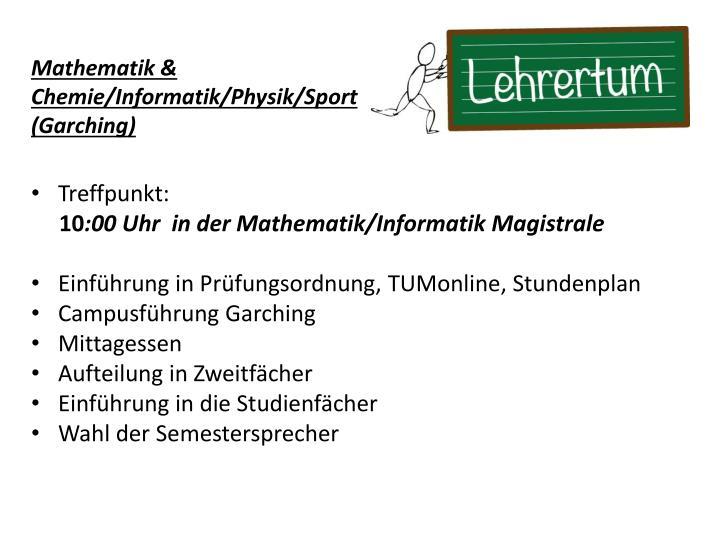 Mathematik &
