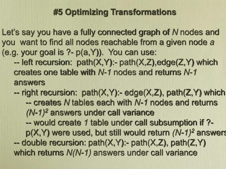 #5 Optimizing Transformations