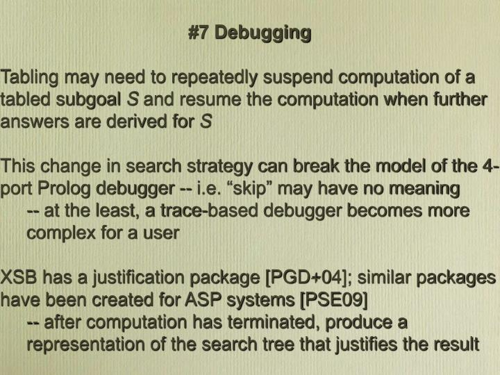 #7 Debugging