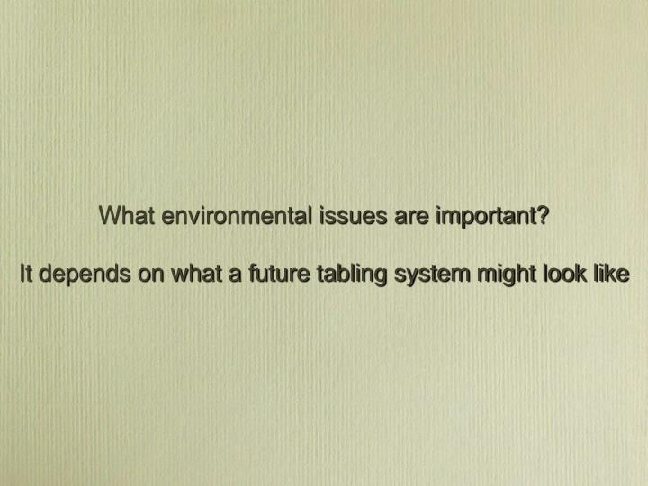 What environmental issues are important?