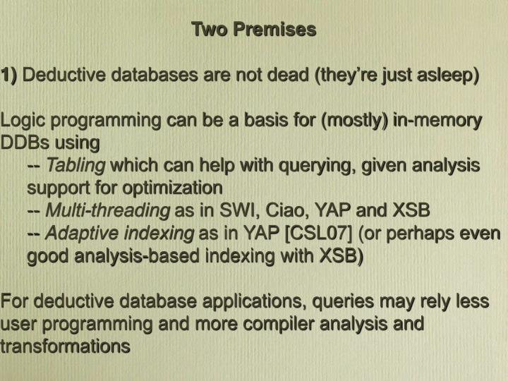 Two Premises