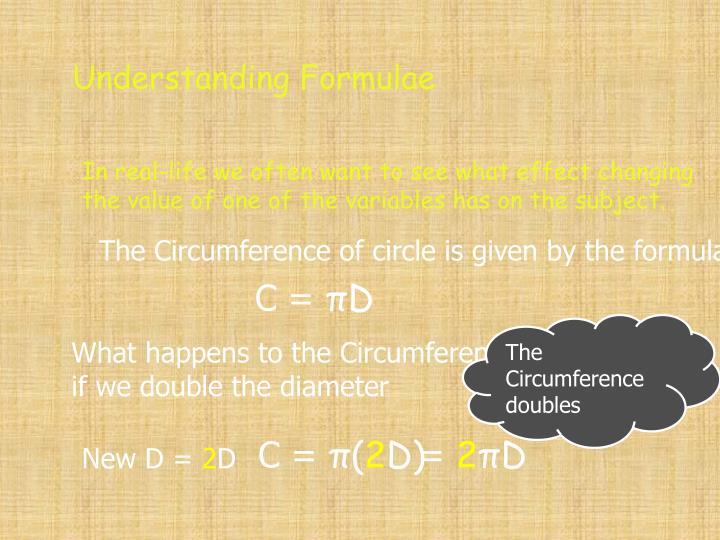Understanding Formulae
