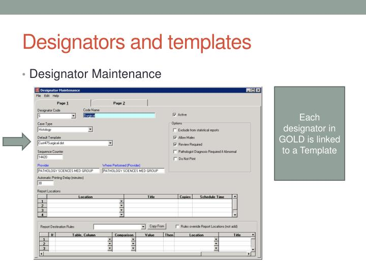 Designators and templates