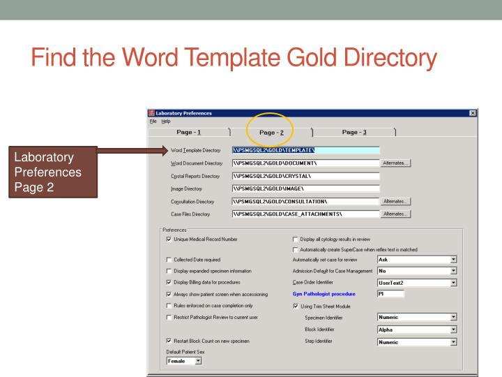 Find the Word Template Gold Directory