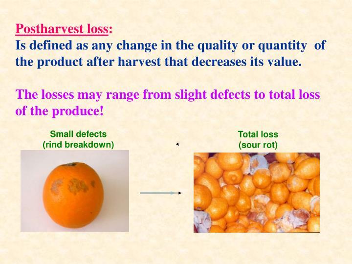 Postharvest loss