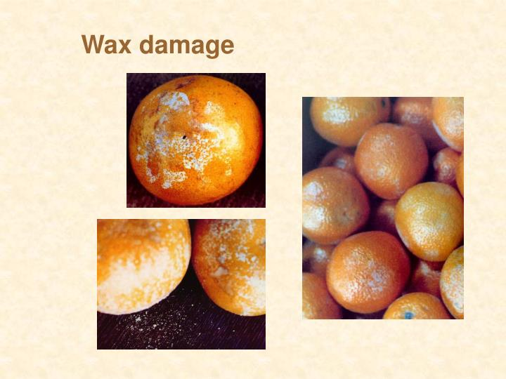 Wax damage