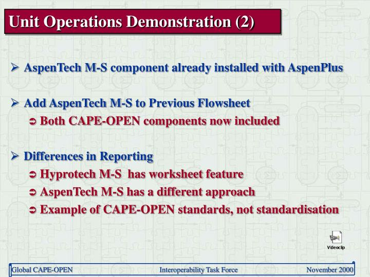 Unit Operations Demonstration (2)