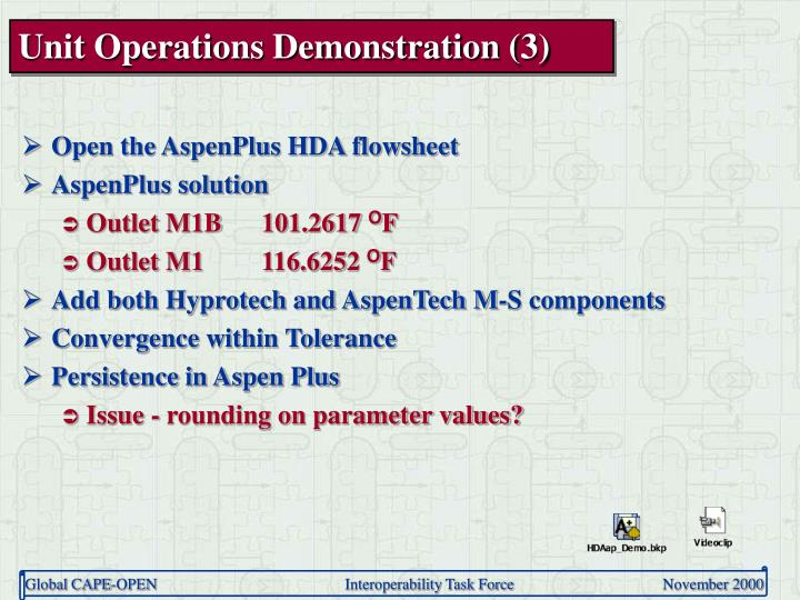 Unit Operations Demonstration (3)
