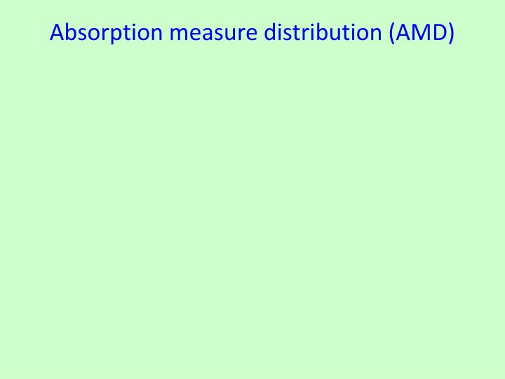 Absorption measure distribution (AMD)