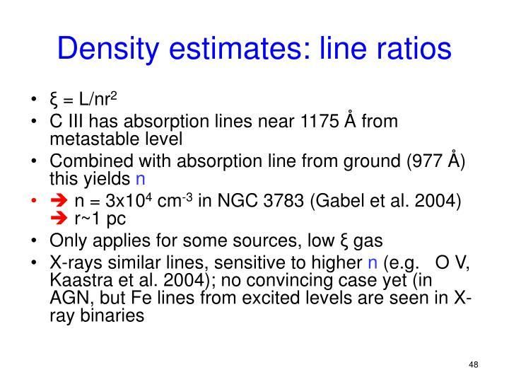 Density estimates: line ratios